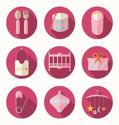babies set vector image