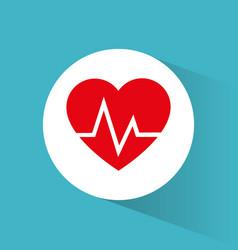 heartbeart care healthy symbol vector image vector image