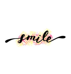 smile inspirational quote about happy modern vector image vector image