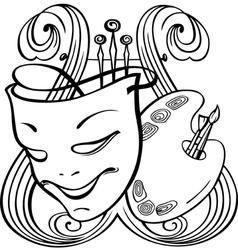 Arts symbols vector image vector image