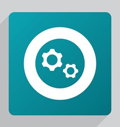flat Settings icon vector image vector image