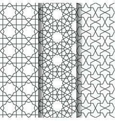 islamic geometry pattern vector image vector image
