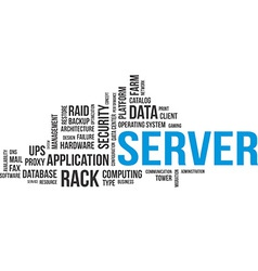 word cloud server vector image vector image