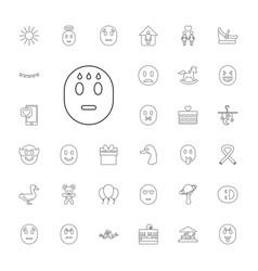 33 happy icons vector