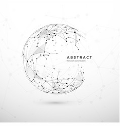 abstract global network concept web structure vector image