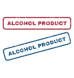 Alcohol Product Rubber Stamps vector image