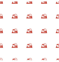 Baby toy icon pattern seamless white background vector