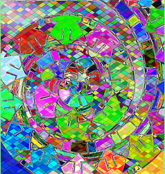 Background with abstract image of variation color vector