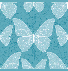 Beautiful seamless pattern with butterflies vector