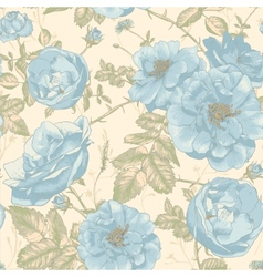 Beautiful Vintage Seamless Roses Background vector