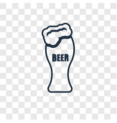 beer concept linear icon isolated on transparent vector image