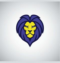 blue lion logo vector image