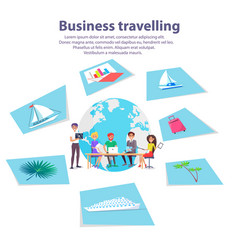Business travelling agency advertisement banner vector