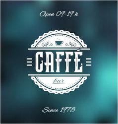 Caffe bar label vector