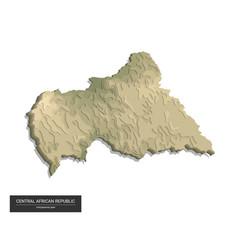 Central african republic map - 3d digital vector