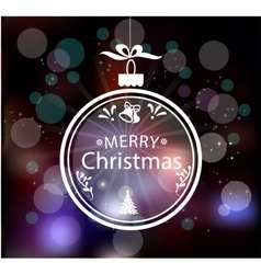 Christmas Greeting Card Vintage card with vector image