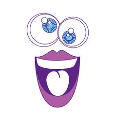 comic face icon vector image vector image