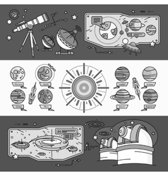 Concept Scientific Cosmos Flat Style vector