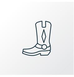 cowboy boots icon line symbol premium quality vector image