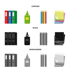 design of office and supply symbol vector image