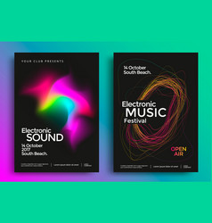 Electronic music festival poster vector