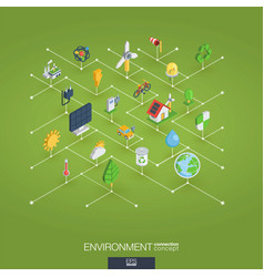 Environmental integrated 3d web icons digital vector