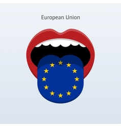 European Union language Abstract human tongue vector