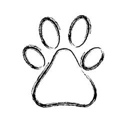 Figure cute dog footprints animal design vector