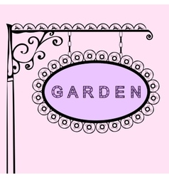 Garden retro vintage street sign vector