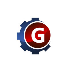 Gear icon letter g vector