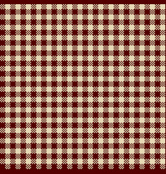 gingham dark red vector image