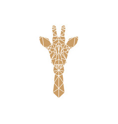 Giraffe head geometric vector