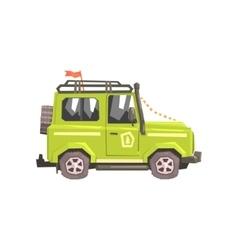 Green suv Safari Car vector