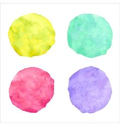 handdrawn bright watercolor circles vector image