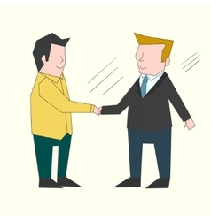 Handshake businessmen color vector