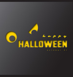 happy halloween paper cut style vector image