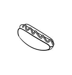 hotdog hand drawn sketch icon vector image