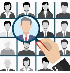 Human resources management select employee vector