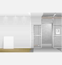 Interior under construction vector