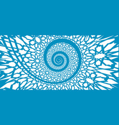 Islamic pattern swirled in 3d spiral shape vector