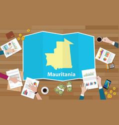 islamic republic of mauritania economy country vector image