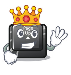 King button page up keyboard mascot vector