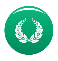 leaf wreath icon green vector image