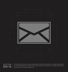 message icon - black creative background vector image