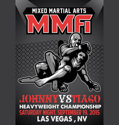 mma fighting poster vector image