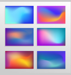 Modern mesh fluid background concept collection vector