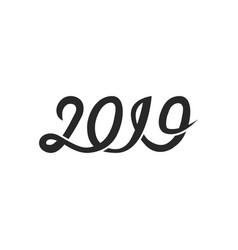 new year 2019 greeting card cover banner vector image