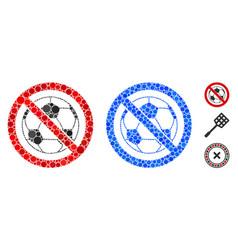 no football mosaic icon circle dots vector image