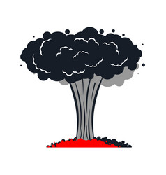 Nuclear explosion isolated war large red vector