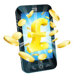 Pound money phone concept vector